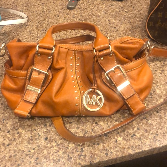 Michael Kors Handbags - Michael Kors soft camel leather satchel